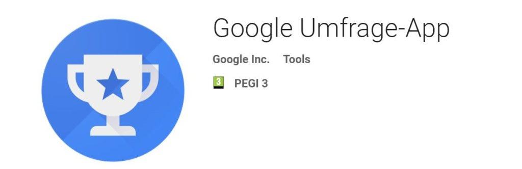 Google survey application