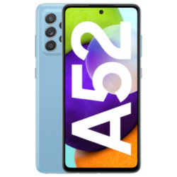 Blue front view of Galaxy A52 1