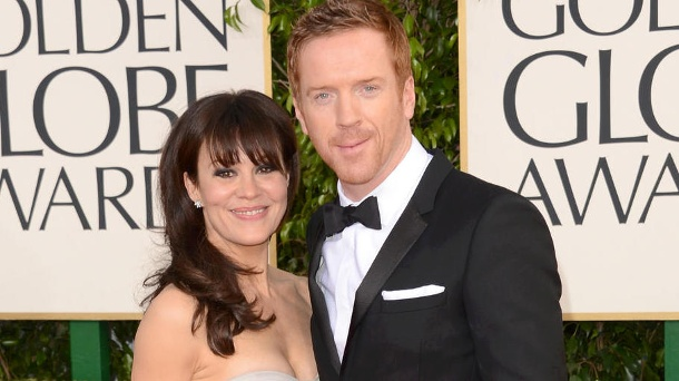 Helen McCrory and Damien Lewis often appeared on the red carpet together.  (Source: Jason Merritt / Getty Images)