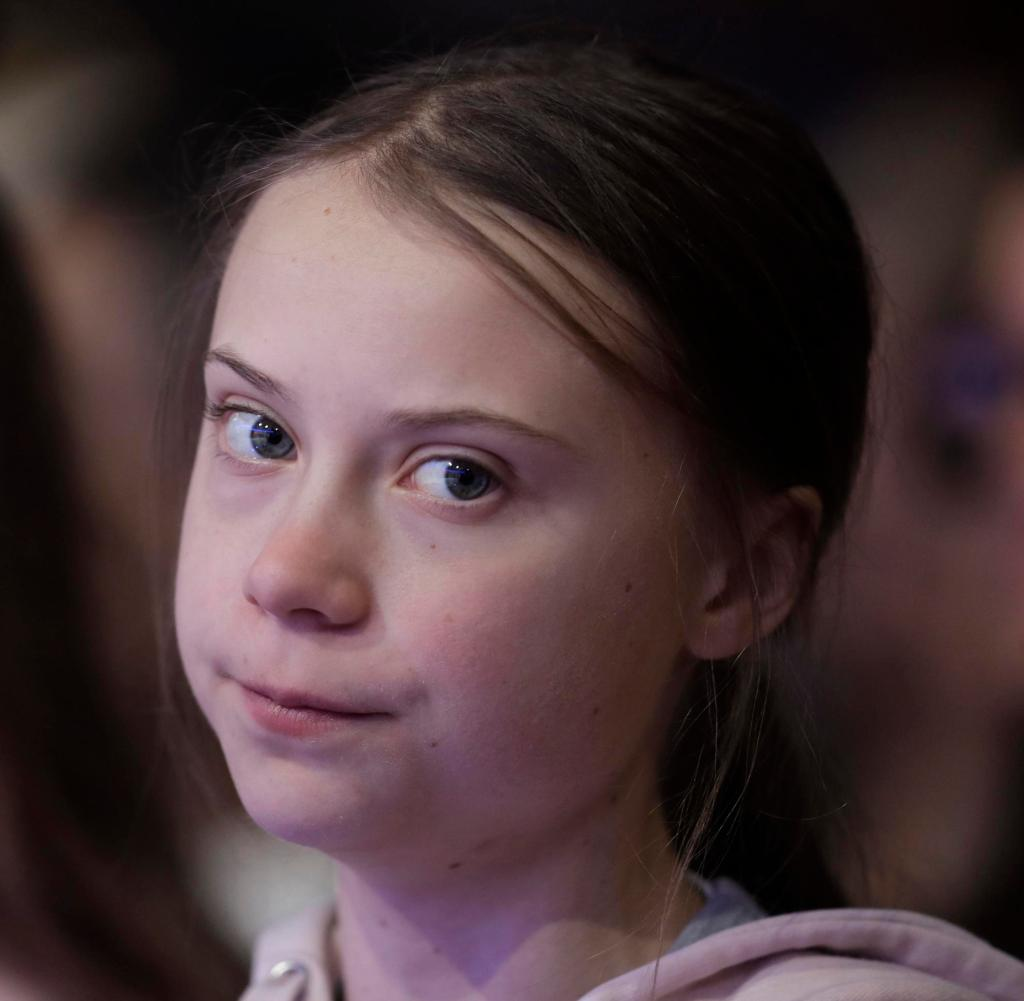 Swedish environmental activist Greta Thunberg attends the World Economic Forum in Davos, Switzerland, Tuesday, January 21, 2020. The forum's fiftieth annual meeting will be held in Davos from January 21 to January 24, 2020. (AP Photo / Michael Probst)