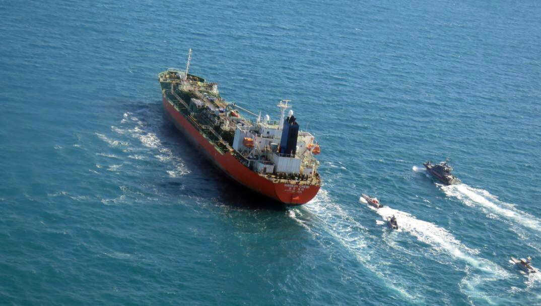 Iran released an arrested South Korean ship
