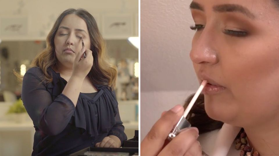 Blind and touching beauty?  Tina Sohrab explains how this is done