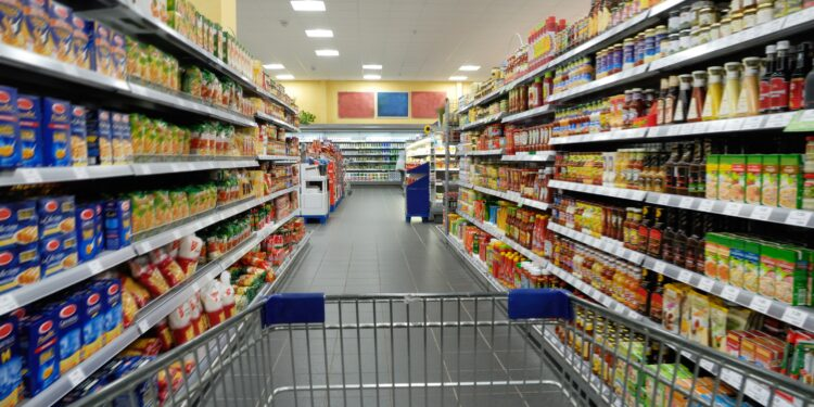 Your cart is empty at the supermarket