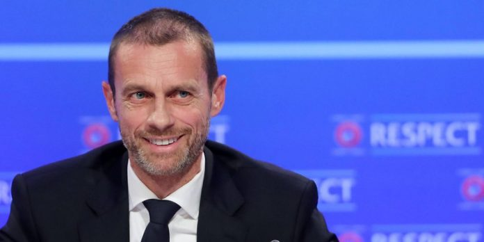 UEFA president Ceferin in the last four championships in the UEFA Champions League