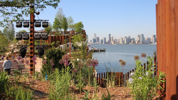 Welcome to Little Island: New York opens new park on stilts