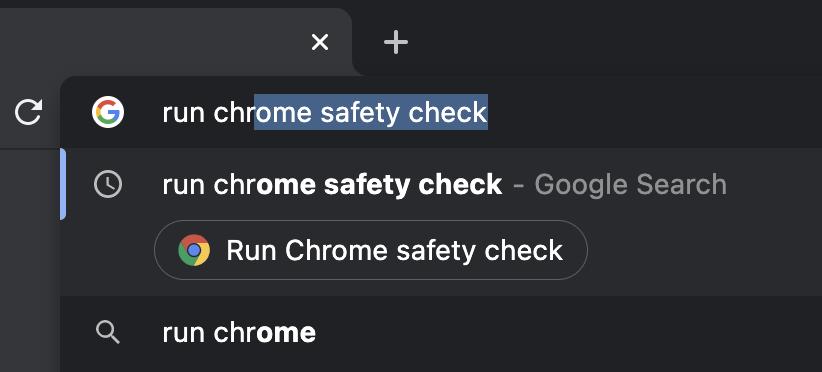 Google Chrome address bar