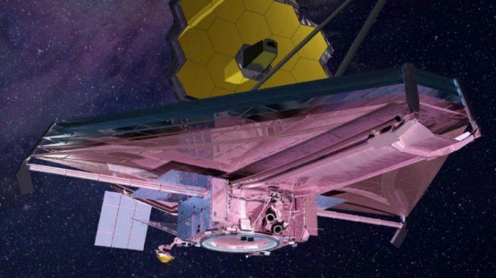Frühestens im Sommer 2020 wird das James-Webb-Weltraumteleskop im All im Einsatz sein (Zeichnung) (NASA)
