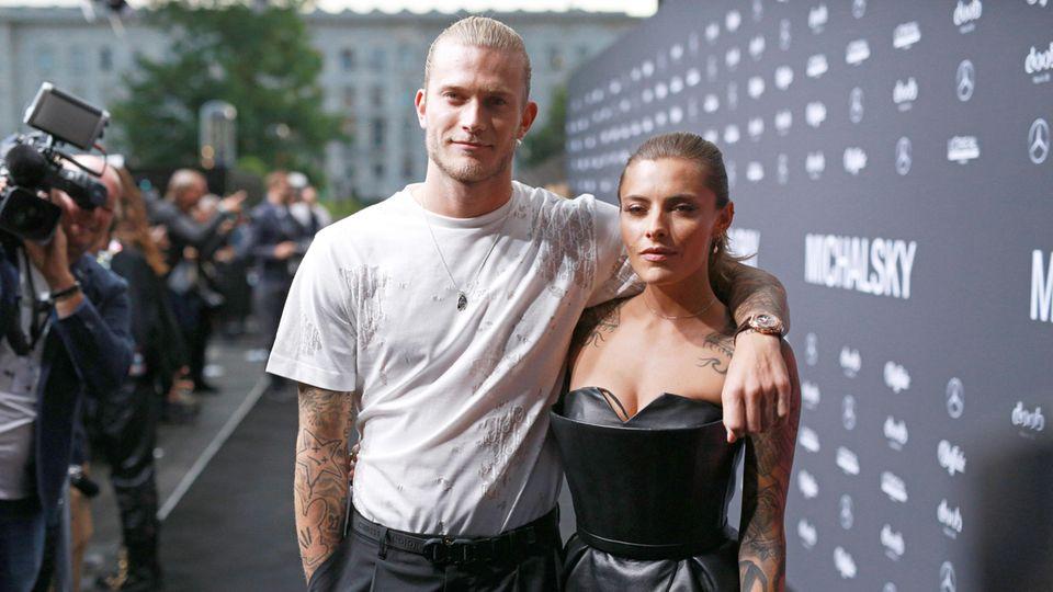 Loris Karius and Sophia Tomala