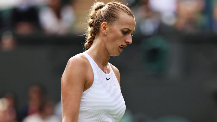 Petra Kvitova has to concede defeat in the first round of Wimbledon - Athletic Mix - Tennis