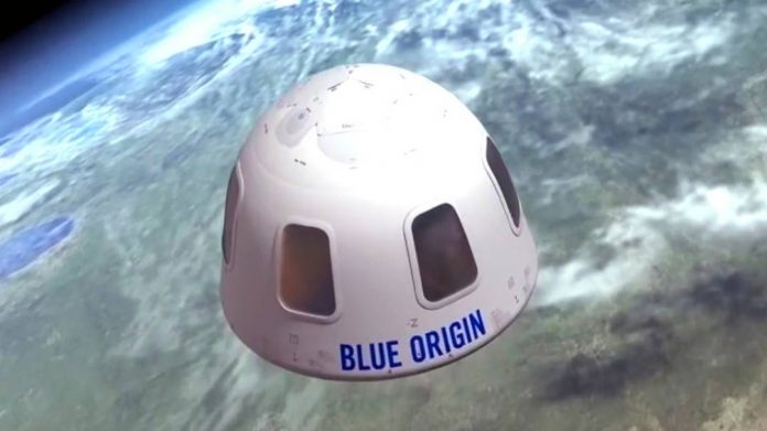Blue Origin is selling an auction ticket for a space flight with Jeff Bezos