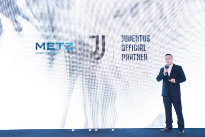 Liu Tang, chief brand officer of METZ blue at the press conference