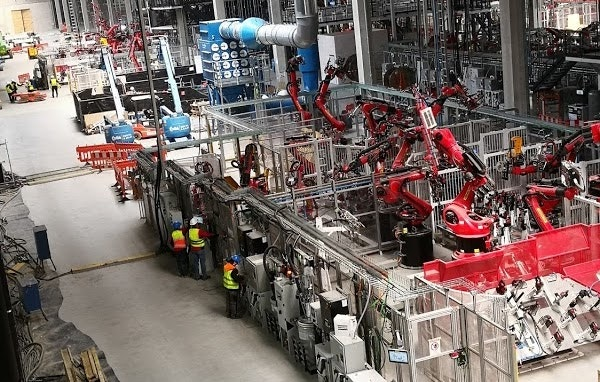 Images on Google Maps show the interior of the Tesla Gigafactory in Grünheide