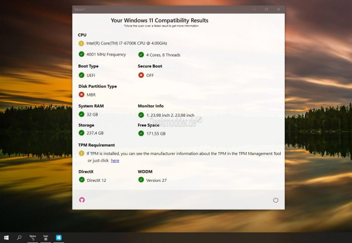 Moin11 - Check for compatibility with Windows 11 from Builtbybel