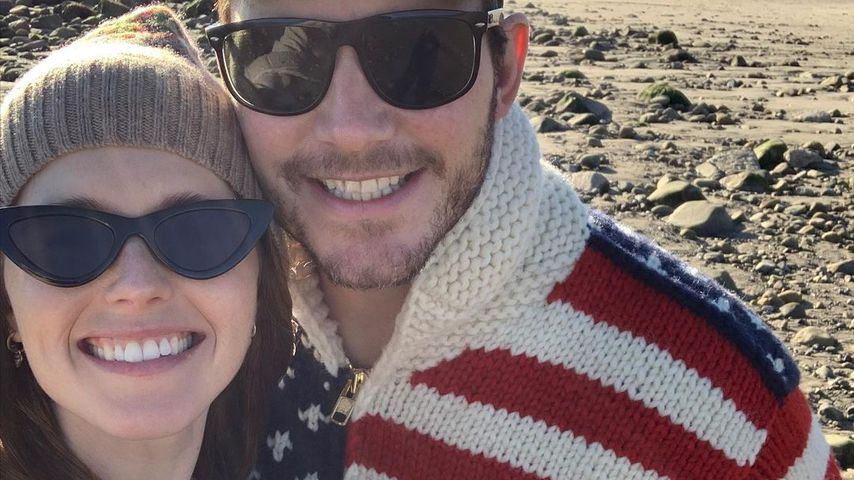 Katherine Schwarzenegger and Chris Pratt and their daughter Lily in December 2020