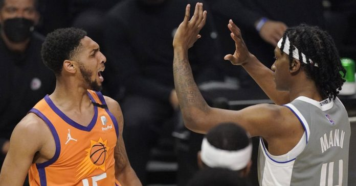 Victory in the Clippers - Phoenix Suns shortly before the final