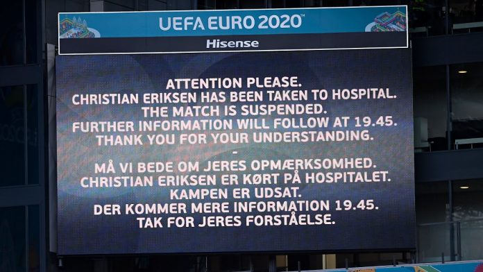 When Eriksen collapses: ZDF rejects criticism of EM . broadcasting