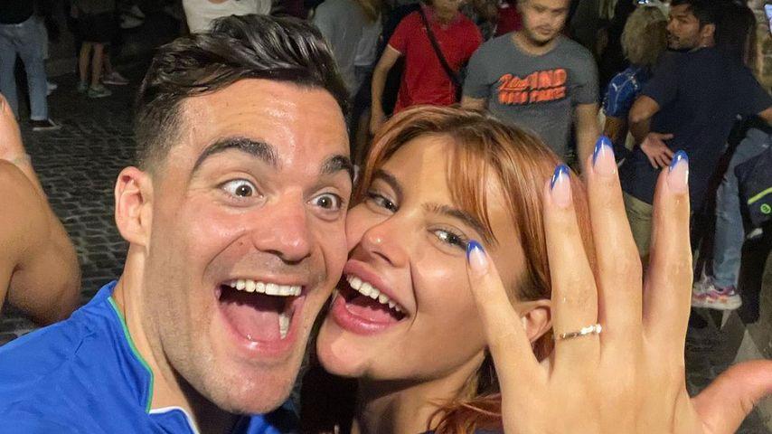 Stefano Zarella and Romina Palm in July 2021 in Rome