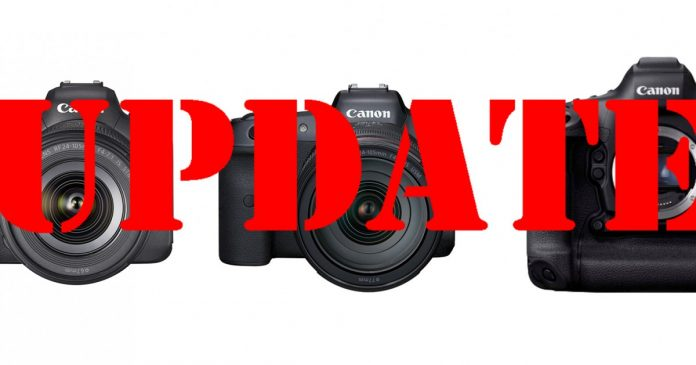 Firmware Updates: Canon Brings C-Log 3 to EOS R6 and EOS-1D X Mark III