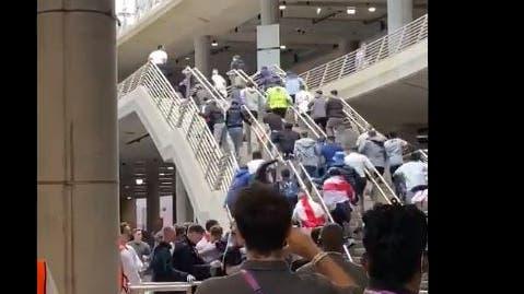 Italy: Fans storm Wembley