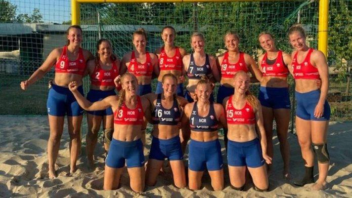 Long pants instead of bikinis: good for women beach handball in Norway