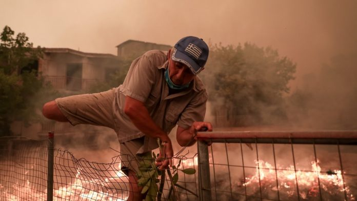 Inferno on a Greek island: Euboeas save villages from fire