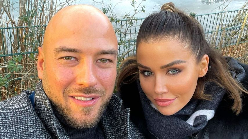 Kim Gloss with her partner Alexander