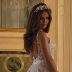 Kim Gloss shows off her second wedding dress