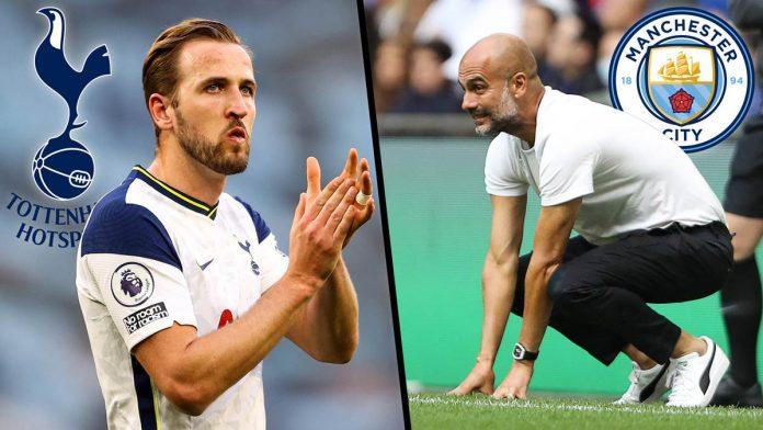 ManCity-Trainer Pep Guardiola würde Tottenhams Harry Kane gern in seinem Team sehen. Zum Premier-League-Auftakt treffen die beiden aber erst mal aufeinander.