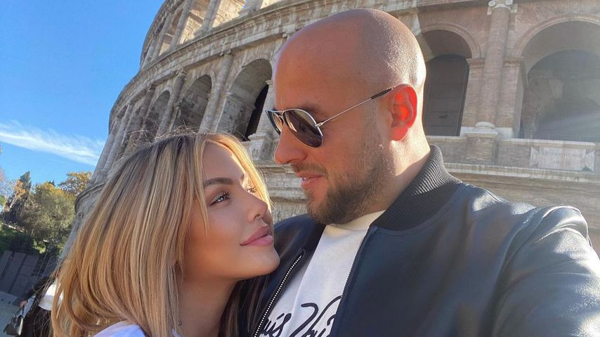 Kim Gloss with her future Alex Pelikin in Rome