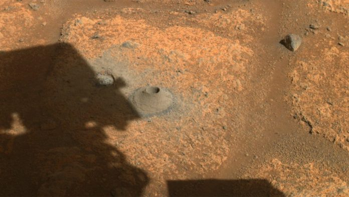 NASA's rover perseveres with first drilling on Mars - without success