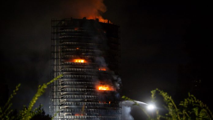 No casualties reported: Milan high-rise building destroyed in fire