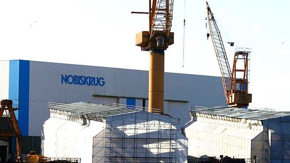 Rendsburg shipyard buildings in HDW Nobiskrug © dpa Photo: Carsten Rehder