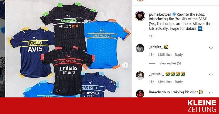 The new jerseys from the supplier Puma caused discontent among the masses «kleinezeitung.at