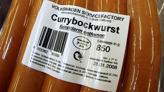 Currywurst production at Volkswagen