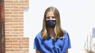 Princess Leonor after her confirmation in Madrid on May 28, 2021