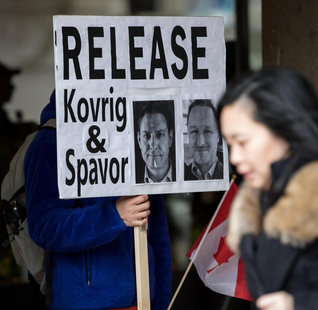 Demonstration of detainees Kovrig and Spavor