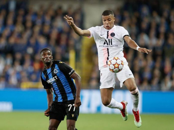 A draw in Brugge and ankle problems with Paris Saint-Germain star Mbappe