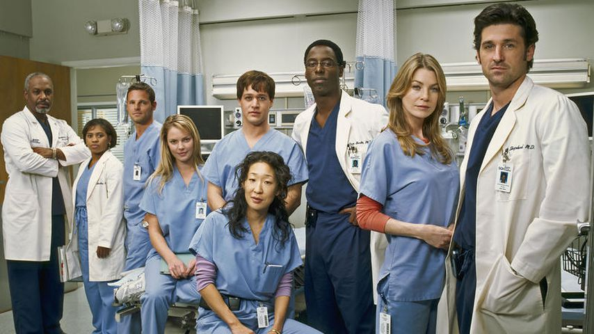 """The main characters of the series """"instinct anatomy"""" On the set of the first season in 2005"""