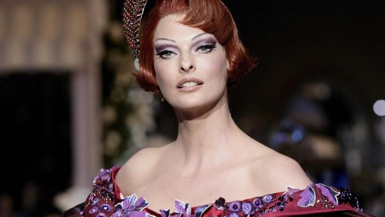 Linda Evangelista nominated for designer John Galliano at the Dior show in 2007 (Image: Image Alliance/dpa)