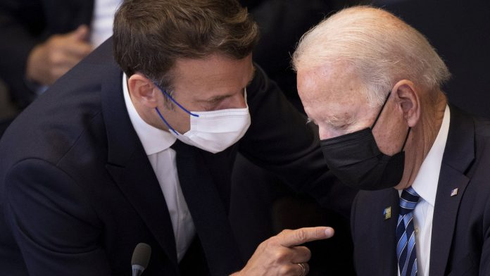 Submarine dispute: Biden and Macron agree to meet