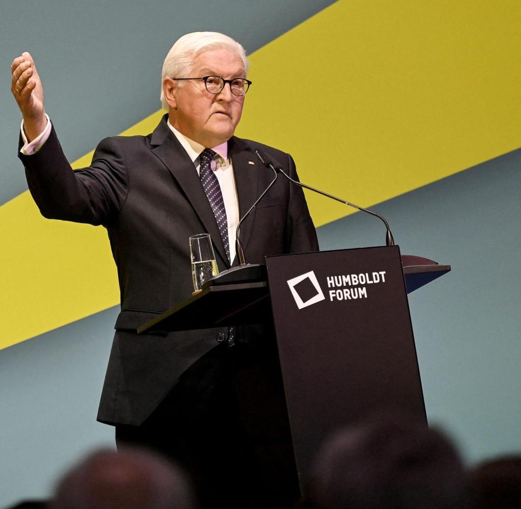 Federal President Frank-Walter Steinmeier at the Humboldt Forum in Berlin