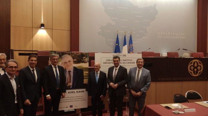 Présentation du projet de création de l'institut du cancer Axel Kahn au conseil départemental des Alpes Maritimes