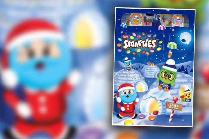 Danger of diarrhea!  Smarties' advent calendar has a bad surprise behind the door 24